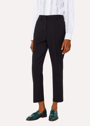 Paul Smith A Suit To Travel In - Women's Black Slim-Fit Wool Pants