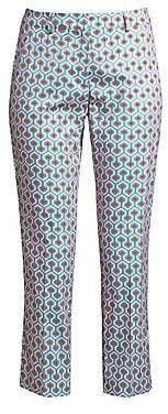 Max Mara Women's Calcut Geometric Print Cropped Trousers