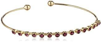 Swarovski Oroclone 14k Plated Clear Bangle Bracelet
