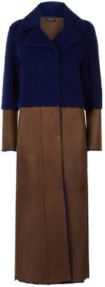 Akris Trina Two-Tone Shearling Coat