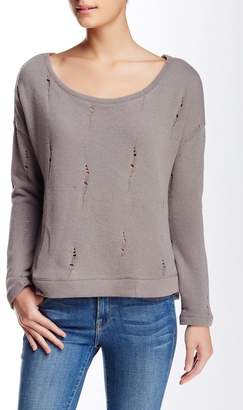 Threads 4 Thought Blair Distressed Pullover Sweatshirt