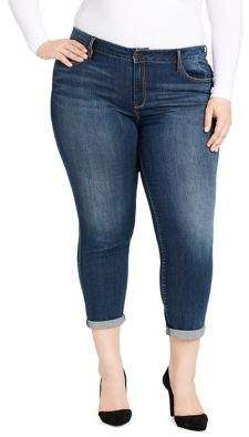 Jessica Simpson Plus Rolled Cuff Jeans