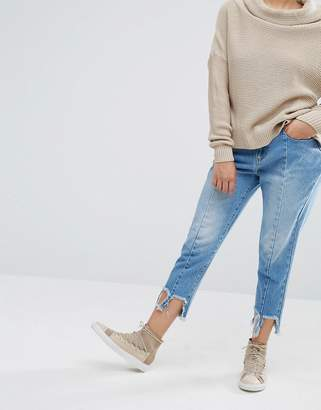 Daisy Street Reconstructed Jeans With Frayed Hems