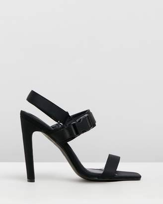 Missguided Buckle Illusion Heels