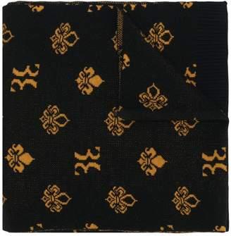 Billionaire logo embroidered scarf