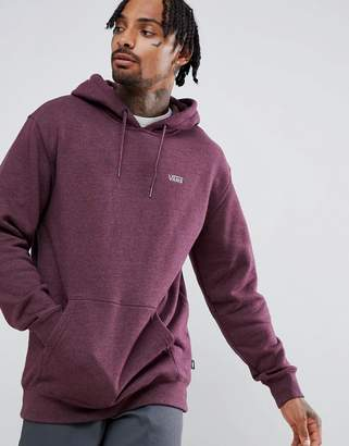 Vans small logo pullover hoodie in burgundy VN0A3HQ29A81