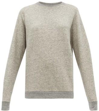 Raey Raglan Sleeve Cotton Blend Sweatshirt - Womens - Light Grey