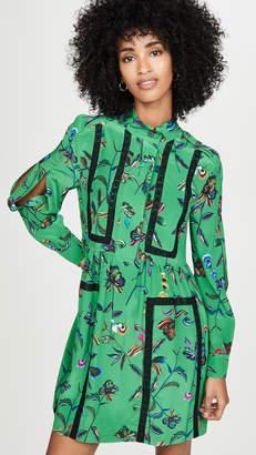 Derek Lam 10 Crosby Long Sleeve Placket Shirt Dress