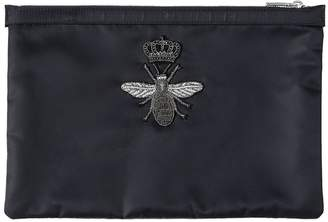 Dolce & Gabbana Bee Embroidered Nylon Pouch