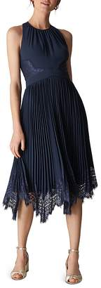 Whistles Lana Pleated Midi Dress