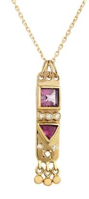 Celine Daoust Totem Pink Tourmaline and Diamond Chain Necklace