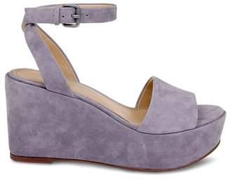 Splendid Women's Felix Suede Ankle Strap Platform Wedge Sandals