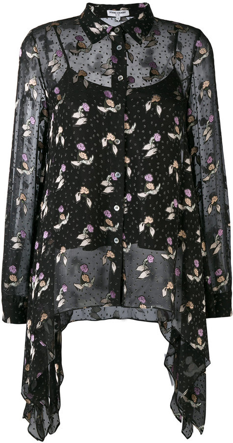 Opening Ceremony - floral draped shirt - women - Silk/Viscose - 10