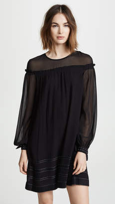 Derek Lam 10 Crosby Long Sleeve Pleated Dress