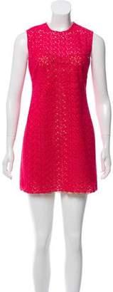 Prada Embroidered Mini Dress
