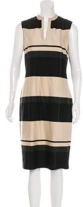 Max Mara Striped Midi Dress
