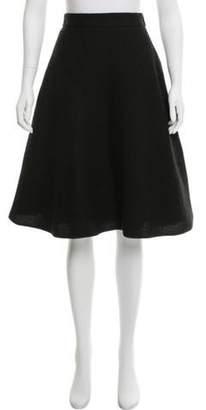 Louis Vuitton Knee-Length A-line Skirt Black Knee-Length A-line Skirt