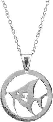 ANCHOR & CREW - Angel Fish Disc Paradise Silver Necklace Pendant