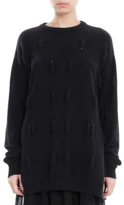 Simone Rocha Bubble Wool-Cashmere Oversized Sweater