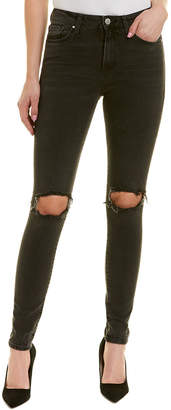 Mavi Jeans Lucy Smoke Ripped High-Rise Super Skinny Leg