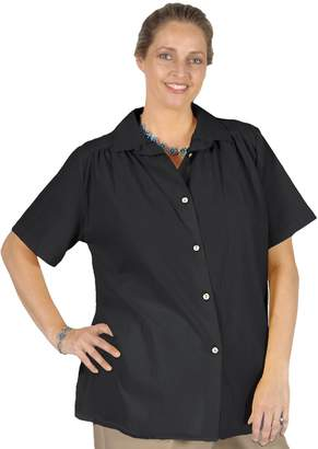 A Personal Touch Women's Plus Size Gauze Short Sleeve Tunic