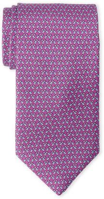 Lanvin Pink Mini Acorn Print Silk Tie