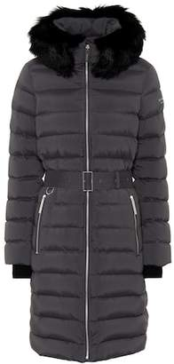 Burberry Shearling-trimmed down coat