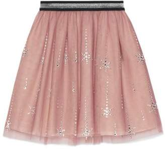 Gucci Children's embroidered tulle skirt
