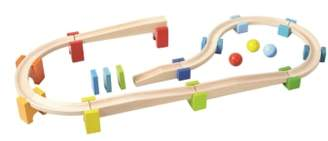 Haba My First Ball Track - 30-Piece Large Basic Pack Construction Set