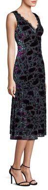 Nanette Lepore Lotus Flower Velvet Burnout Dress $598 thestylecure.com