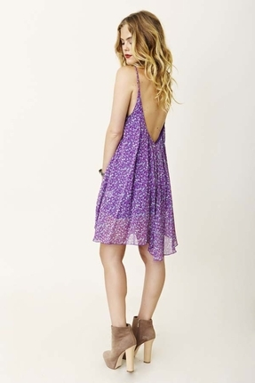 Blu Moon U-Back Baby Doll Dress in Lavender
