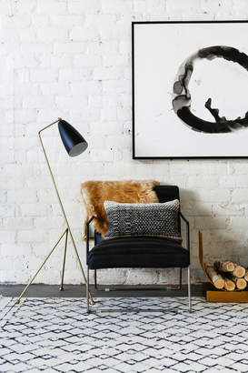 Lulu & Georgia Shany Floor Lamp, Matte Black and Brass
