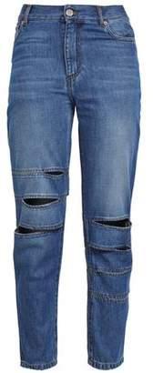 Each X Other Cutout Faded Boyfriend Jeans