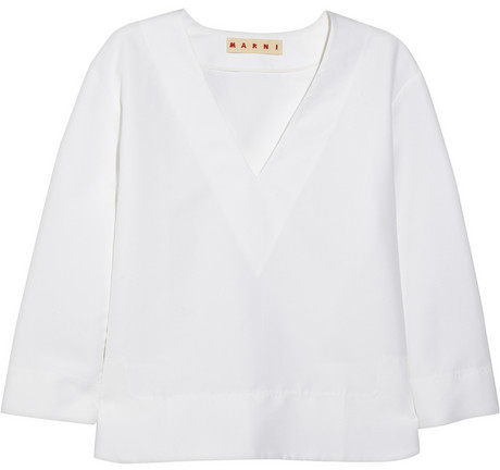Marni Oversized cotton-cady top