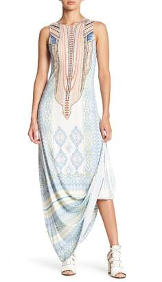 Hale Bob Lace-Up Back Maxi Dress