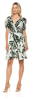 Michael Stars Women's Paradiso Print Wrap Dress