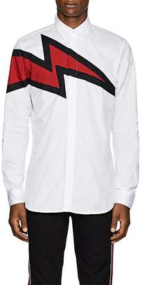 Givenchy Men's Lightning-Bolt Cotton Poplin Shirt