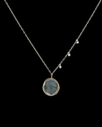 Meira T 14K & Silver Diamond & White Topaz Necklace