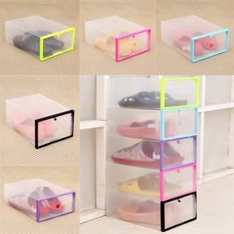 clear Binmer Foldable Stackable Plastic Drawer Case Organizer Box Holder Shoe Storage