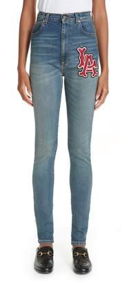 Gucci LA Patch Skinny Jeans