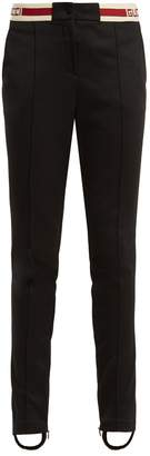 Gucci Striped-waist technical-jersey trousers