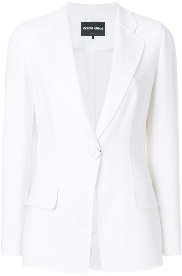 slim fit buttoned blazer