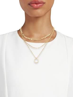 Panacea Multi-Layered Goldtone Pendant Necklace