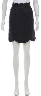 Chloé Scalloped Mini Skirt
