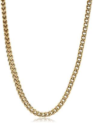 Men's -Tone Stainless Steel Thin Foxtail Chain Necklace