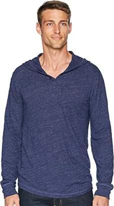 Lucky Brand Men's Casual Long Sleeve Linen HOODLEY Shirt