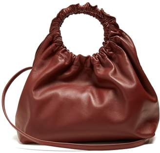 The Row Double Circle small leather bag