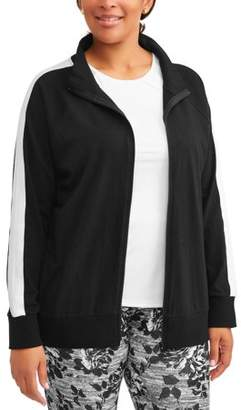 Elite Brands Women's Plus Bomber Zip Front Jacket