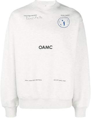 Oamc slogan crewneck sweatshirt
