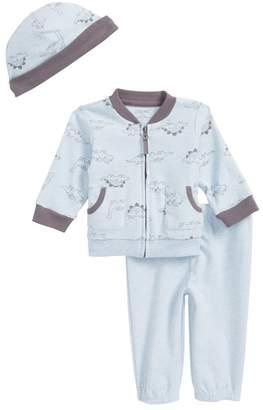 Little Me Dino Jacket, Jogger Pants, & Hat Set (Baby Boys)
